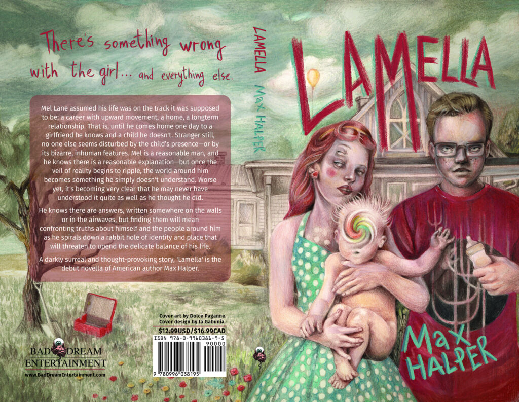 Cover art for Max Halper's 'Lamlla'. Illustration by Dolce Paganne.